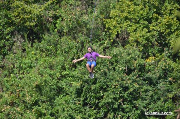 Ziplining at Casela