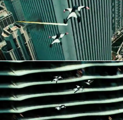 Transformers 3 Base Jumpers / Action Scene